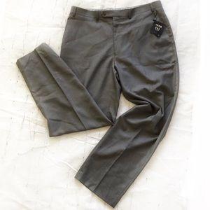 IZOD Men's Trousers Light Grey 38 x 32 NWT